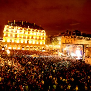 "Amadeus sound reinforcement was featured at the Paris ""Fete de la Musique"" EDM stage, Place du Palais Royal"