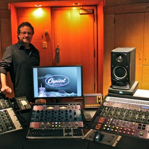 Robert Vosgien in his new Dangerous Music equipped Capitol mastering studio