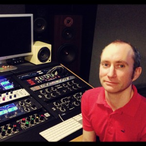 Mastering Engineer Nate Wood at his NY Kerseboom Mastering Studio