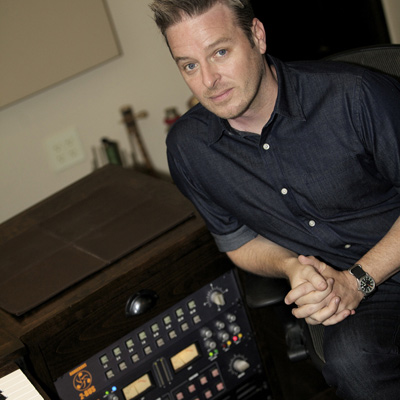 Composer PJ Hanke in his studio with the Dangerous 2-Bus, Monitor and MQ