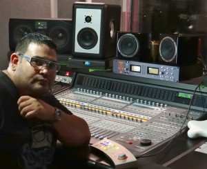 Jr Sanchez in his Dangerous Music-equipped studio